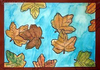 Tekenen en zo: Dwarrelende herfstbladeren