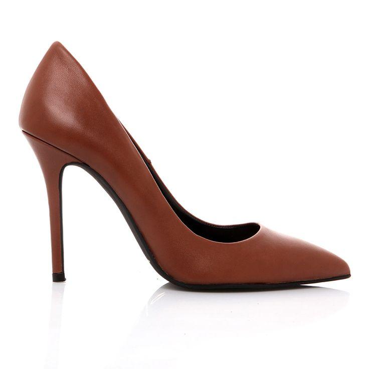 100400_COGNAC LEATHER www.mourtzi.com #cognac #loveshoes #pumps #mourtzi