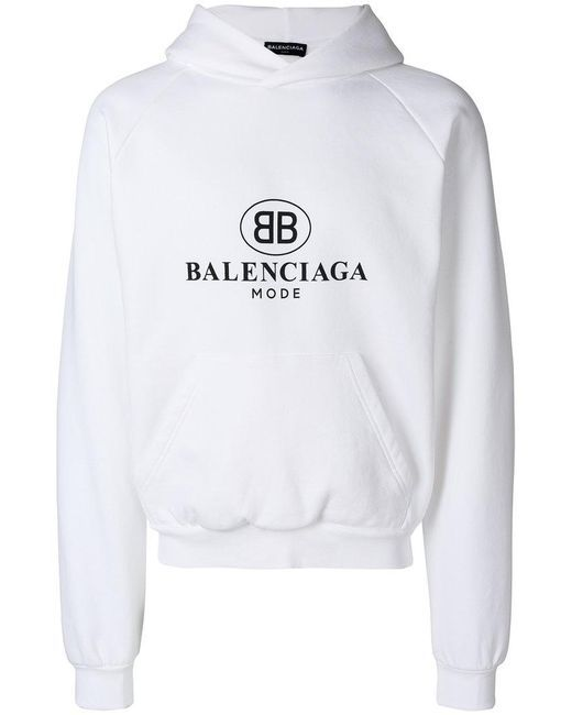 7042c8a7c6a Men's White Bb Mode Hoodie | we3r.pakt | Balenciaga jacket, Mens ...