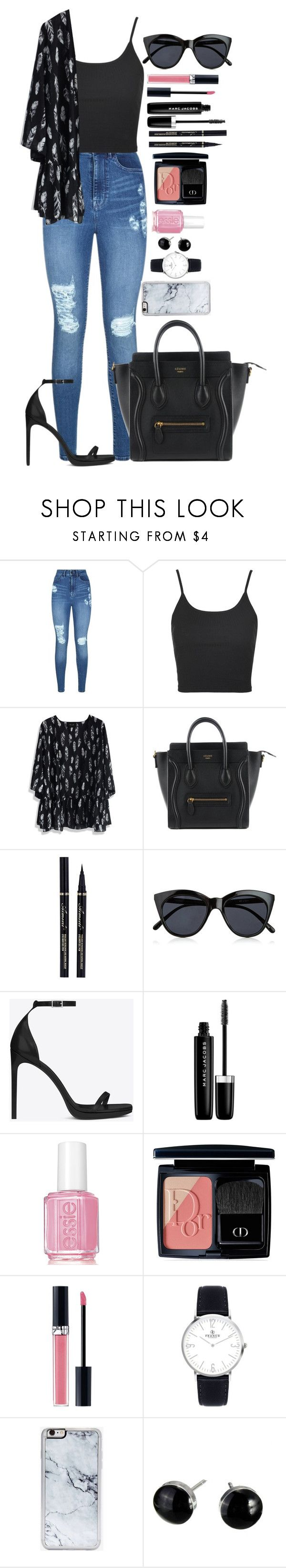 """""""Untitled #1472"""" by fabianarveloc on Polyvore featuring Lipsy, Topshop, Chicwish, Le Specs, Yves Saint Laurent, Marc Jacobs, Essie, Christian Dior and Zero Gravity"""