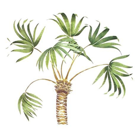 Free Form Palm Tree Wall Stencil by DeeSigns