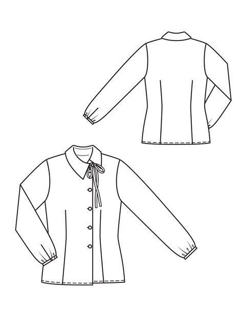 asymmetrical blouse pattern #burdastyle
