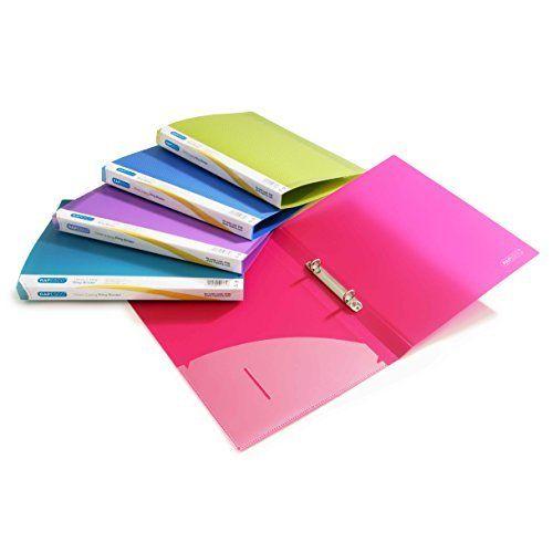 Sammelmappe DIN A4 - innen 30 Sichthüllen - Minimuster pink-rosa - bettina bruder®