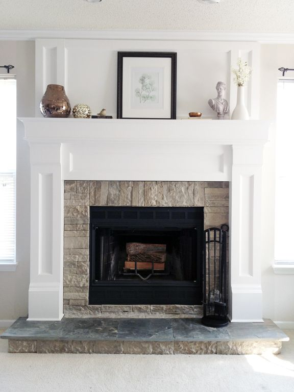 Diy Fireplace Mantel Redo Mantels Wood Trim And Fireplaces