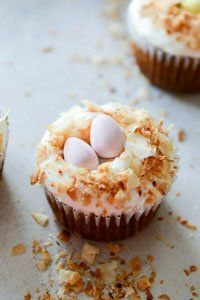 Mmmm banana and coconut cupcake, we won't say no – especially with a coconut cream cheese and Mini Egg topping.