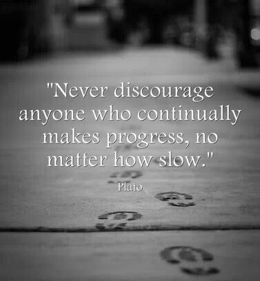 Plato quotes. Philosophy. Philosopher. Never Discourage Anyone Who Continually Makes Progress, No Matter How Slow. SJF