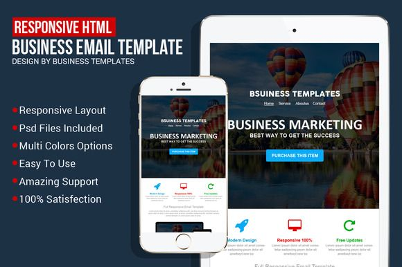 Responsive Business Email Template by Business Templates on Creative Market