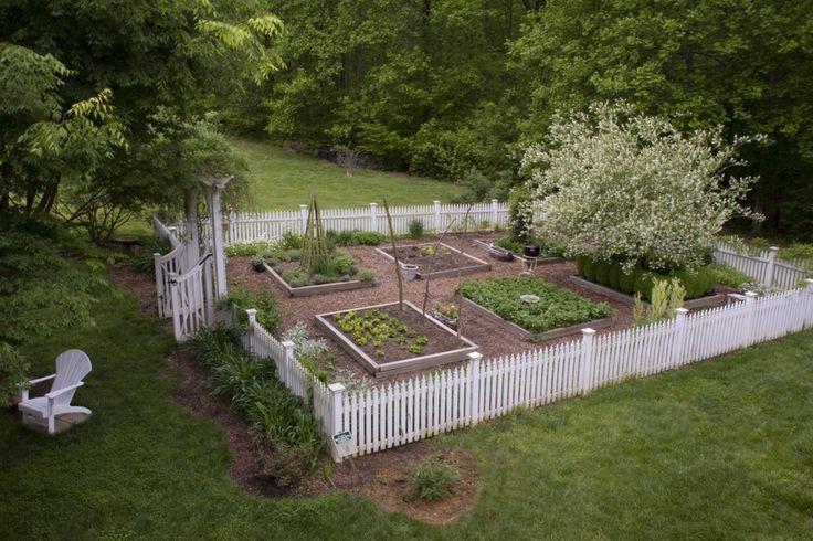Picket Fence Vegetable Garden