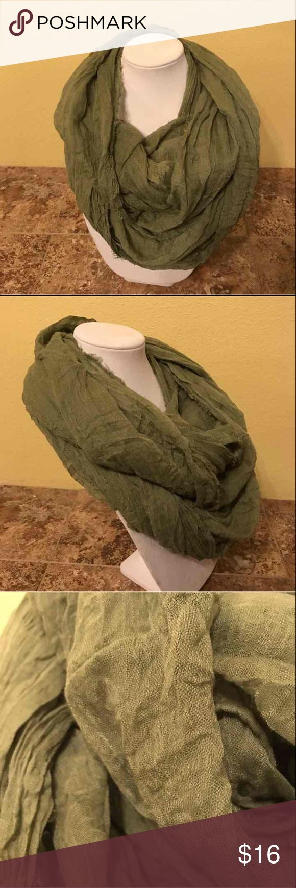 "Tasha ""the ringer"" Green infinity scarf. Purchased from Nordstrom, great condition, worn once. Regular $32. Tasha ""the ringer"" Green infinity scarf. Great add on item for a bundle! Tasha Accessories Scarves & Wraps"
