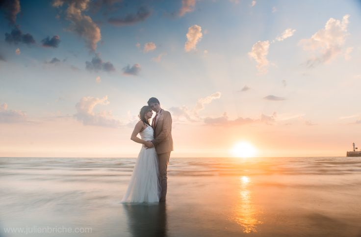 Trash The Dress à la plage, TTD, wedding, mariage, bride, groom, mariés, plage, beach