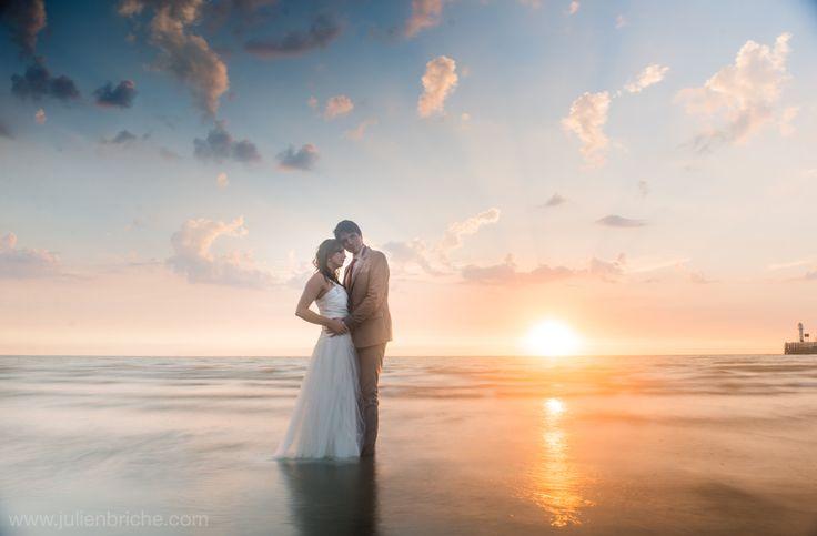 Trash The Dress à la plage, TTD, wedding, mariage, bride, groom, mariés, plage, beach