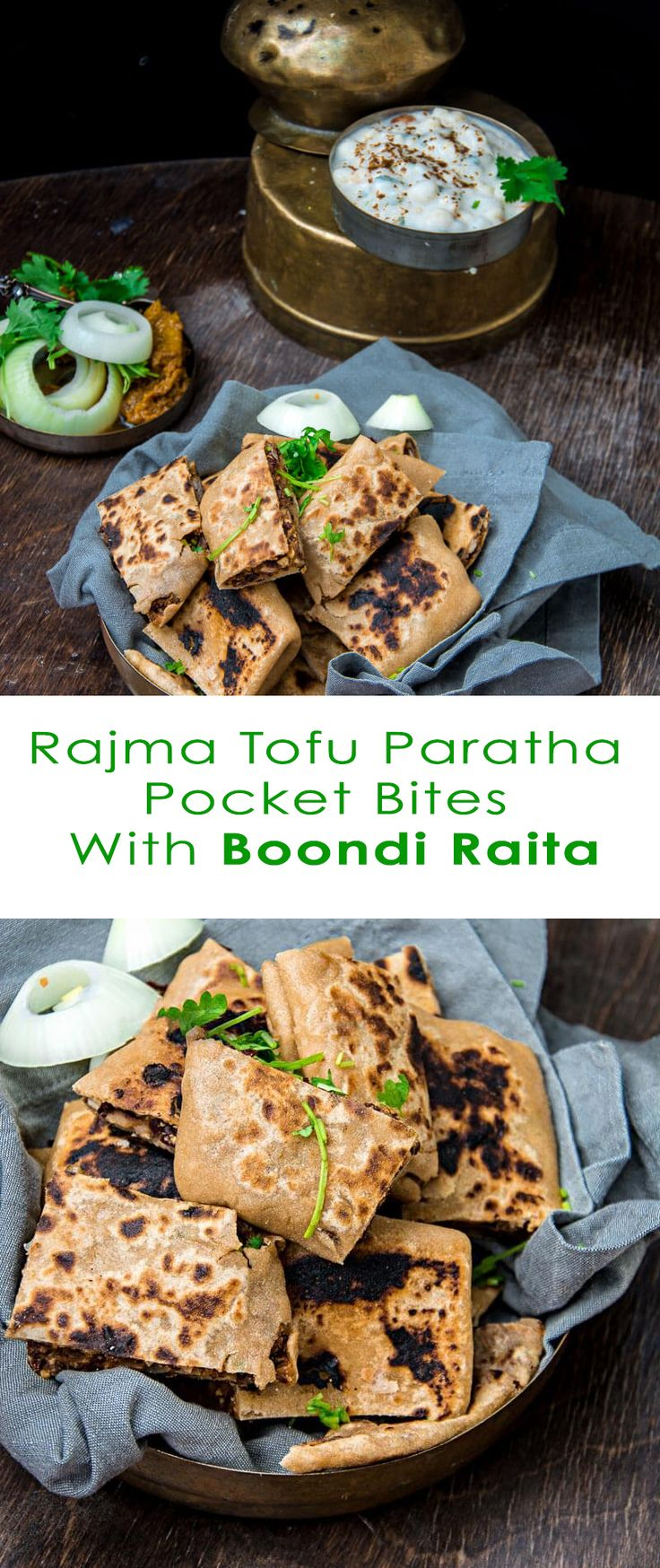 Rajma Tofu Paratha Pockets With Boondi Raita | mygingergarlickitchen.com…