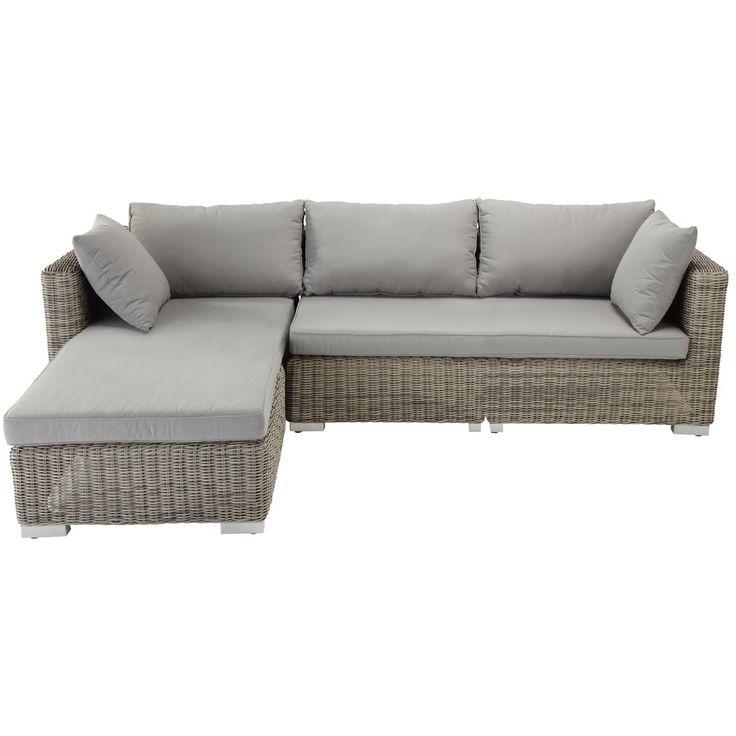 Light grey outdoor corner sofa CAPE TOWN
