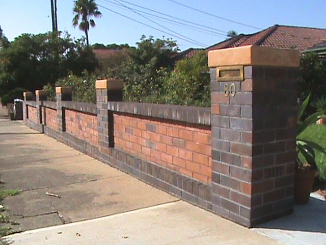 Brick Wall Fence Designs: 17 Best Ideas About Brick Fence On Pinterest