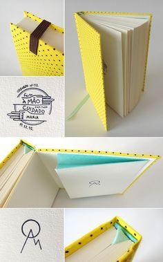 cadernos personalizados feitos artesanalmente com muito capricho