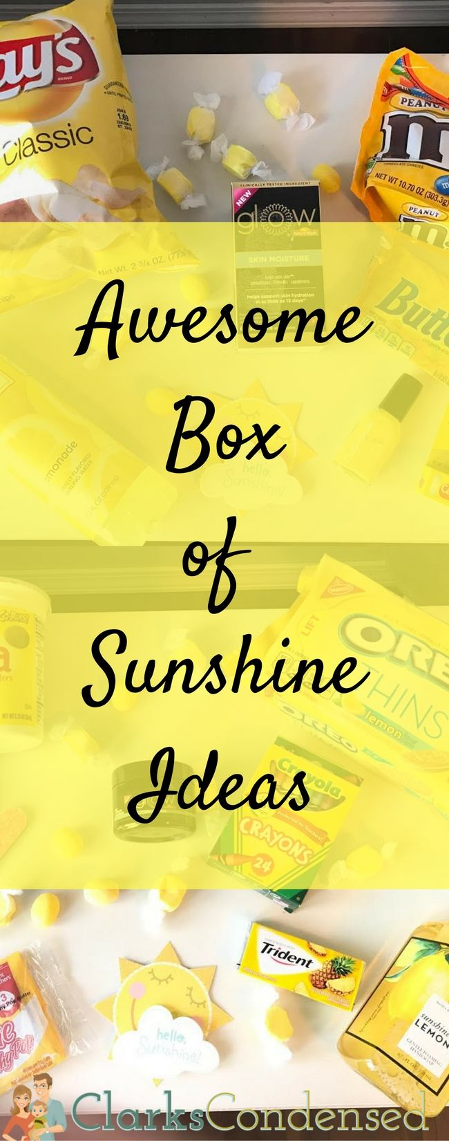 Love this sweet idea to send someone a box of sunshine!