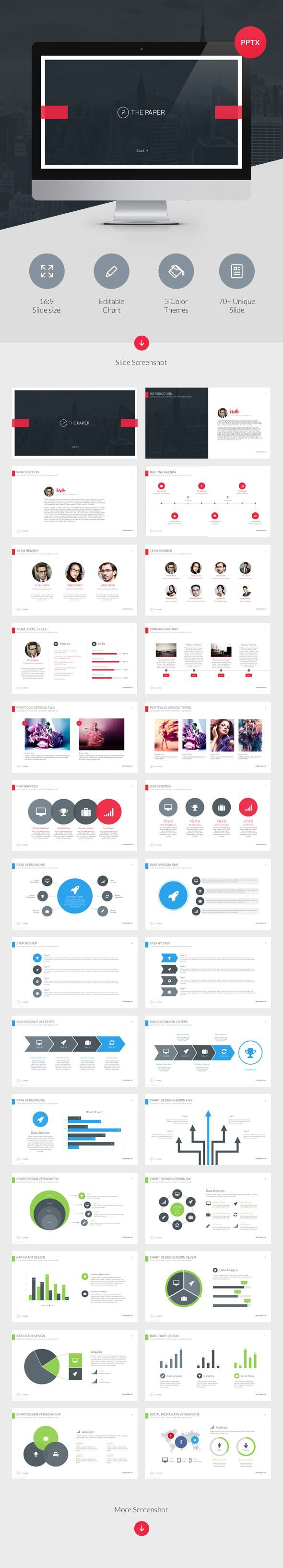 The Paper - Powerpoint Presentation Template - Business Powerpoint Templates: