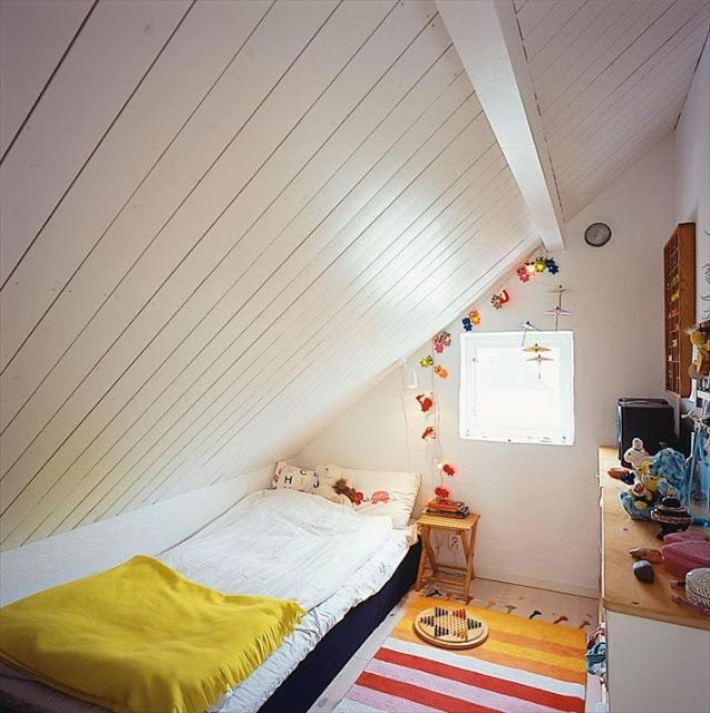bed configuration for sloped ceiling attic pinterest