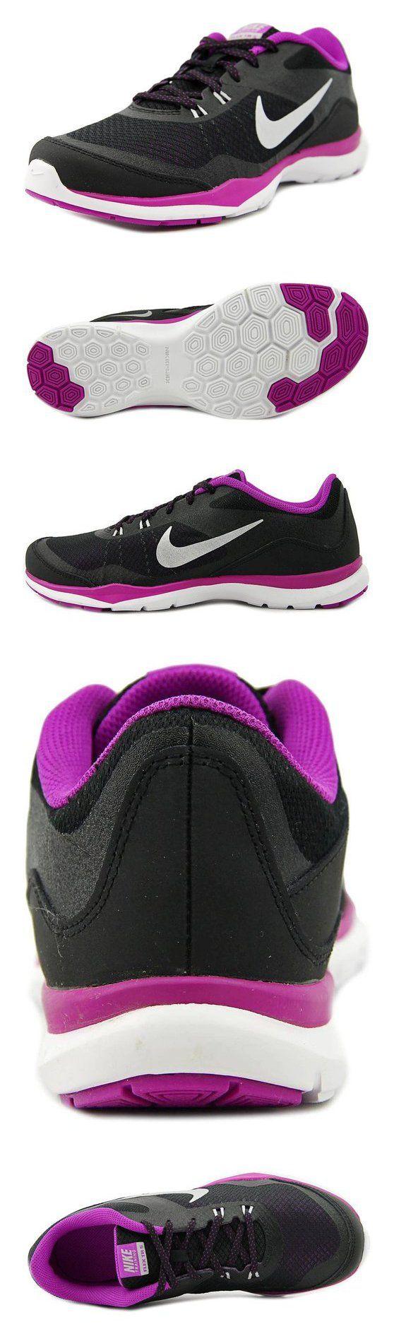 $70 - Women's Nike Flex Trainer 5 Training Shoe Black/Purple/Bright Grape/Metallic Silver Size 9 M US #shoes #nike #2010