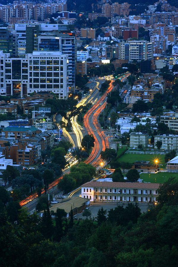 Bogota en el atardecer