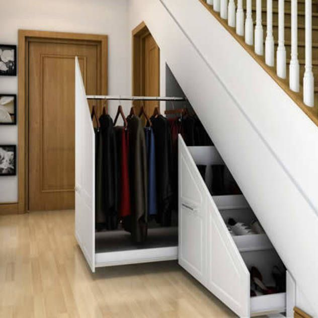 Innovative storage solutions. : Modern corridor, hallway & stairs by Chasewood Furniture