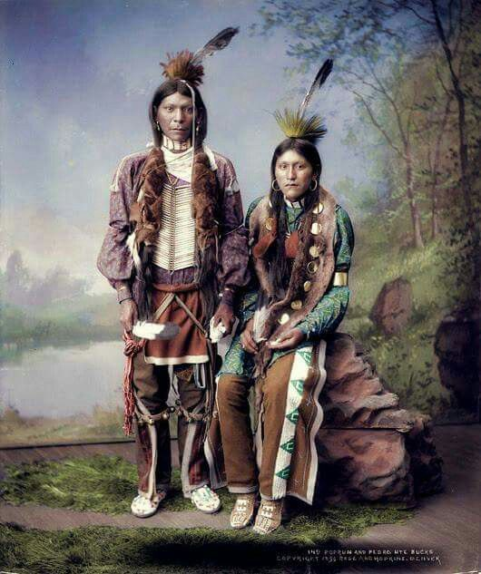 Native Americans (photo colorized).