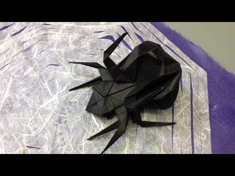▶ How to Make an Origami Halloween Spider and Web - YouTube