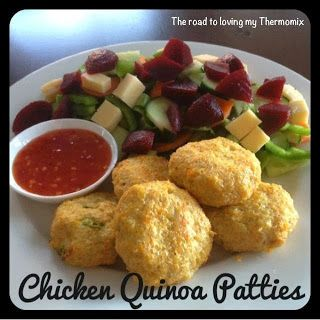 The road to loving my Thermomix: Chicken and Quinoa Patties