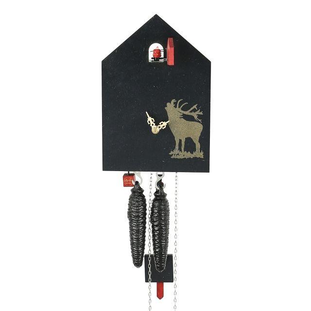 Ein röhrender Hirsch auf einer modernen Kuckucksuhr - 159,90 € - https://www.hausder1000uhren.de/Kuckucksuhren-Mechanisches-Werk/Modernes-Design/Kuckucksuhr-modern::480.html