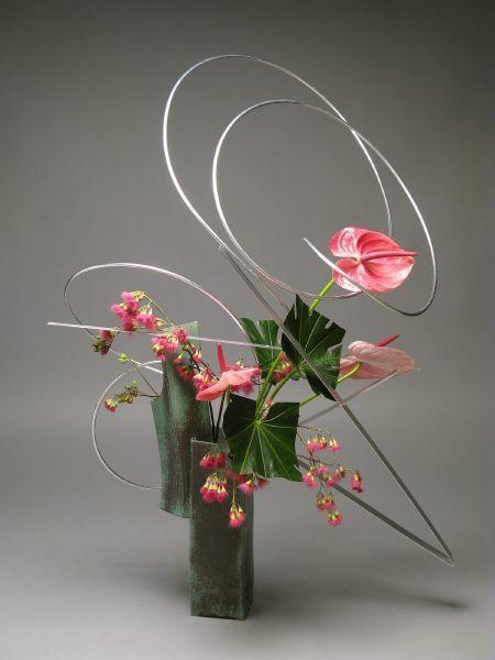 Anthurium ikebana by Gordon Ward