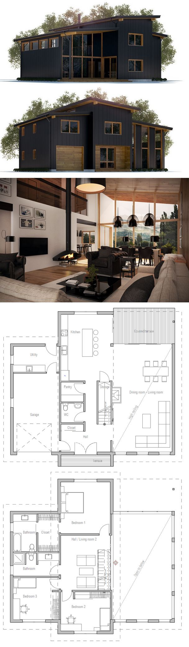 Modern 4 Bedroom House Plans 17 Best Ideas About Loft Floor Plans On Pinterest Small Home