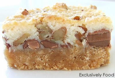 Chocolate, Pecan and Coconut Slice. Completely delicious.
