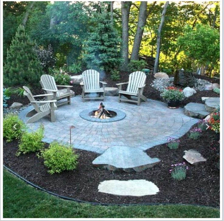 Firepit outdoors pinterest casas de campo jardines for Landscaping the backyard ideas