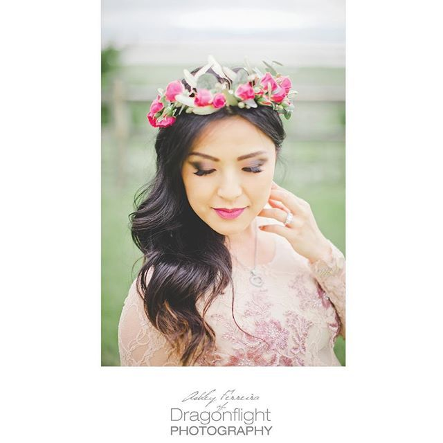 floral crown for maternity mama! photography by dragonflight photography Vancouver, BC