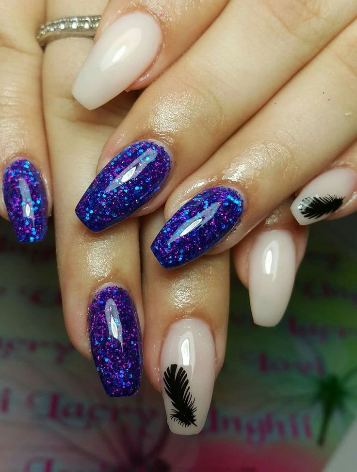 Feather nail art 2017