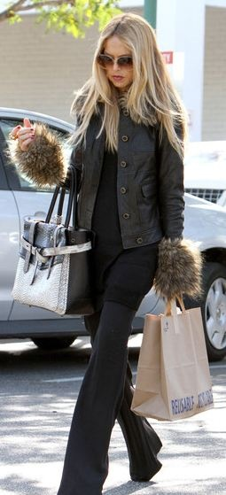Rachel Zoe; love the fur cuff