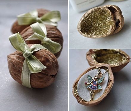 a fairy walnut present - MollyMoo - crafts for kids and their parents