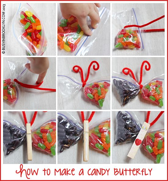 Butterfly Candy Craft Written by chanie on July 30th, 2013   It's funny how parents have to go from simple pink party bags to more elaborate...