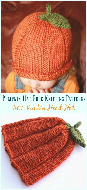 e6f7e8256 Pumpkin Hat Free Knitting Patterns [Baby To Adults] | Crochet and ...