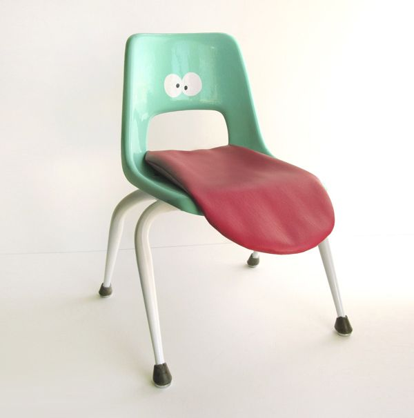Tongue Chair by Wary Meyers: Kids Furniture, Growing Up, Seats, Vintage Kids, Folding Chairs, Offices Chairs, Tongue Chairs, Wari Meyer, Kids Rooms