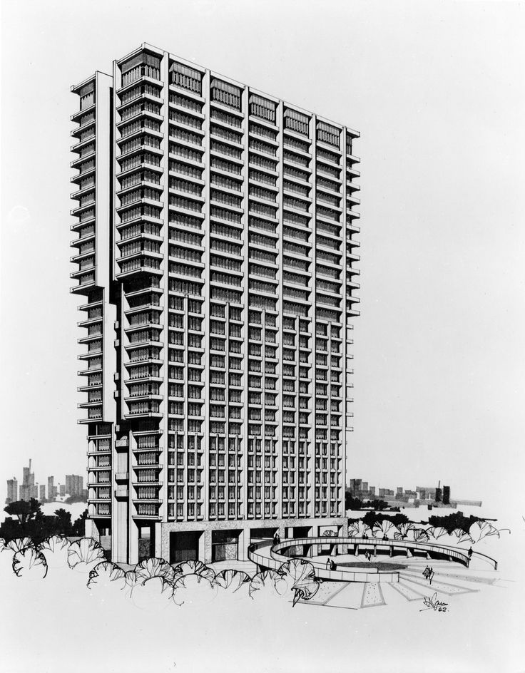 Walter Netsch (SOM) UIL Campus/ University Hall, 1961