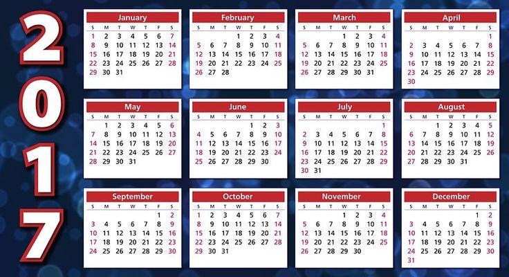 Calendario, 2017, Programa