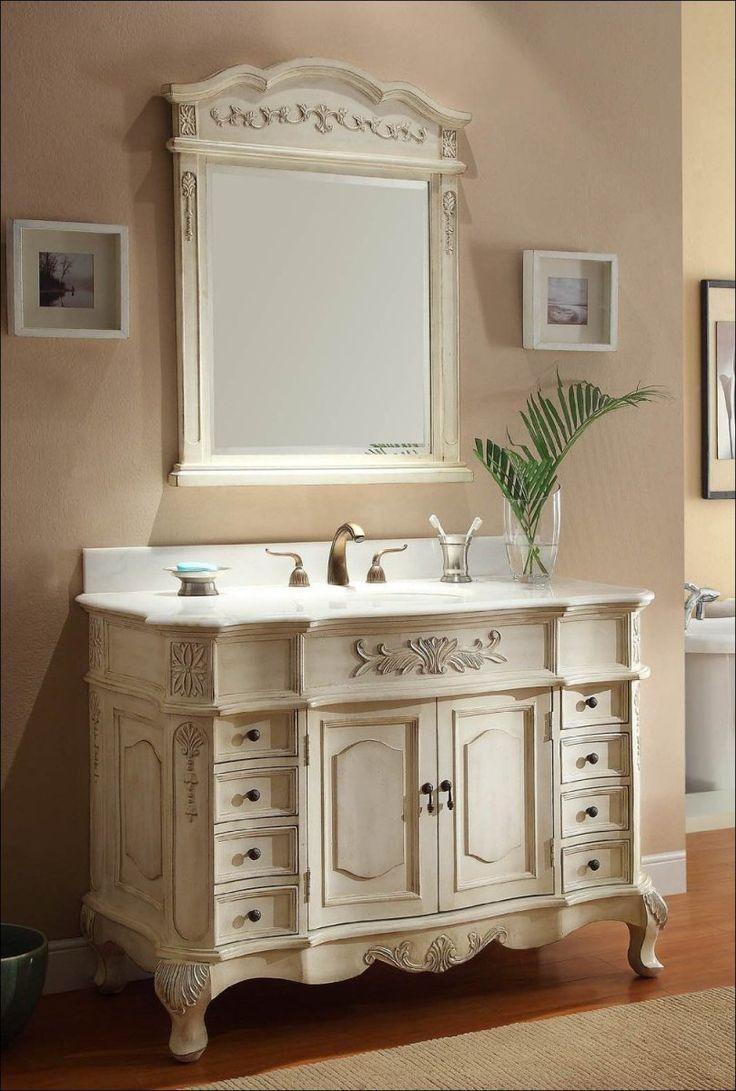 Best 25 bathroom vanity mirrors ideas on pinterest - Antique white double sink bathroom vanities ...