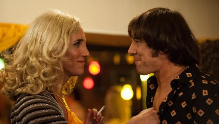Samuel Johnson, right, as Molly Meldrum and Ben Gerrard as transgender friend Caroline Jenkins in Molly.