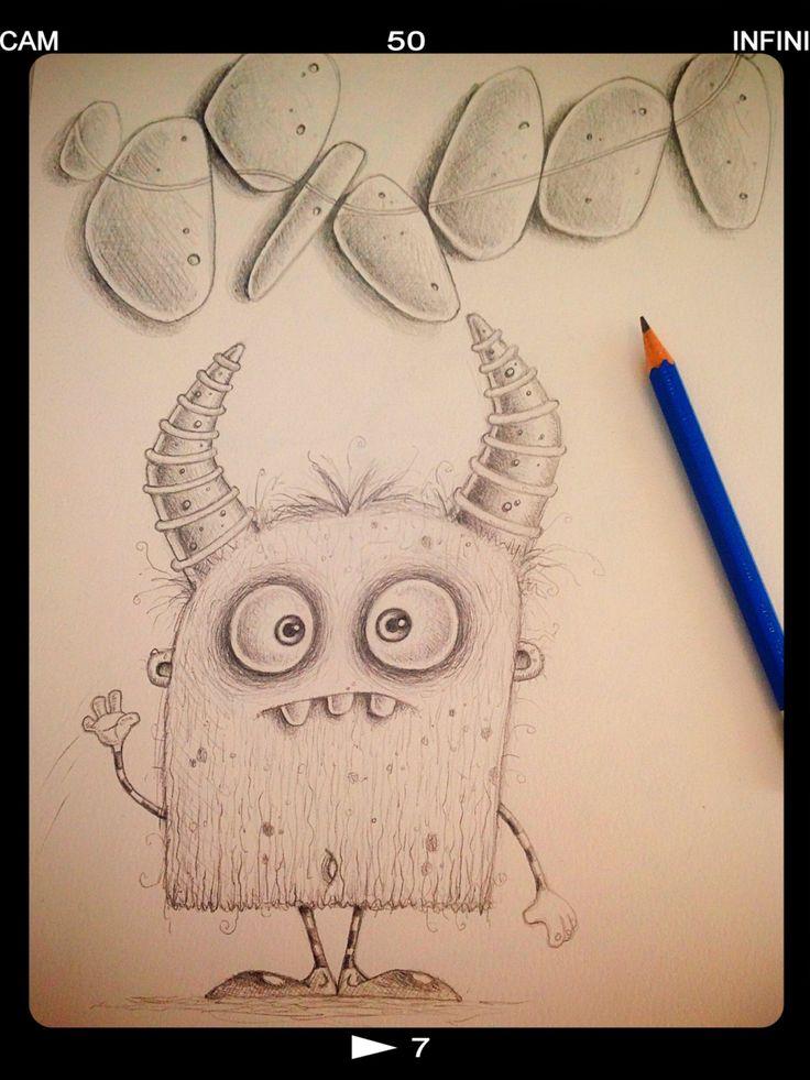 Quick pencil monster sketch.