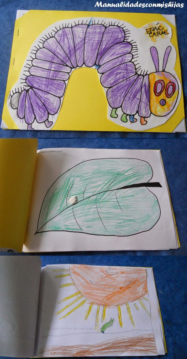 """En la entrada anterior os puse el cuento """" The very hungry caterpillar """" hecho por mi hija de 4 años, ahora os voy a poner el hecho por mi h..."""