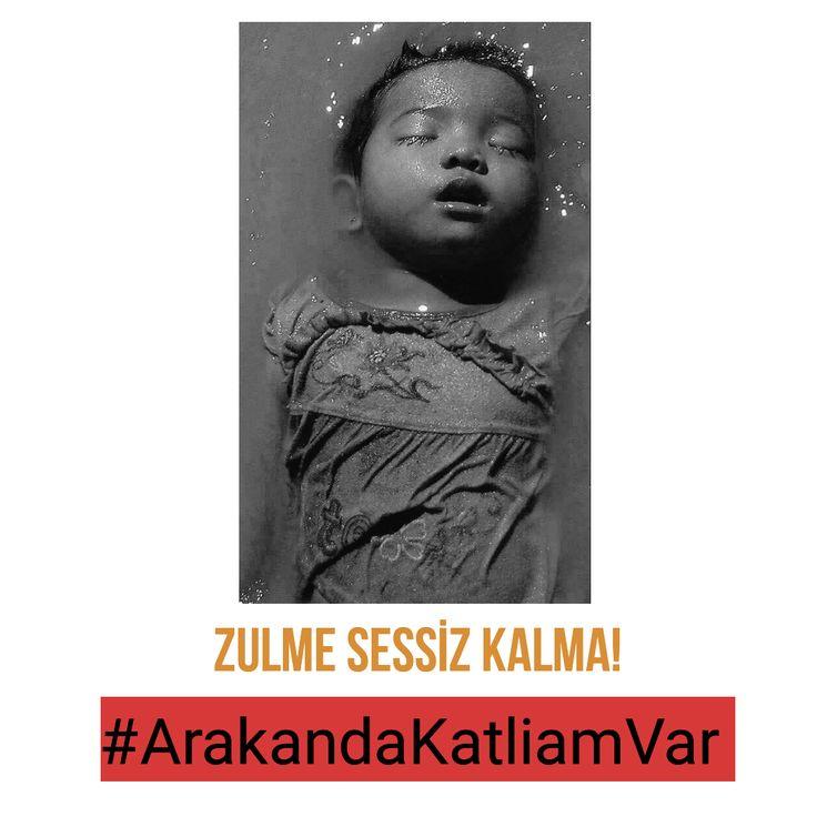 """""""Bir Zulme Engel Olamıyorsanız Onu Herkese Duyurun!"""" Hz. Ali  #ArakandaKatliamVar #AraKANağlıyor"""