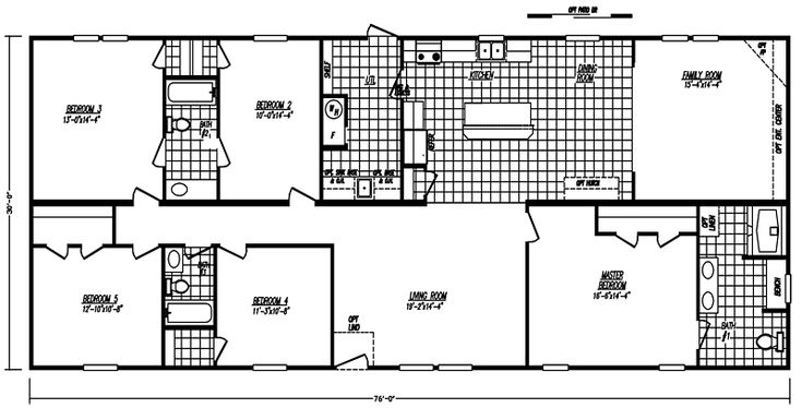 1000 ideas about mobile home floor plans on pinterest for 5 bedroom double wide