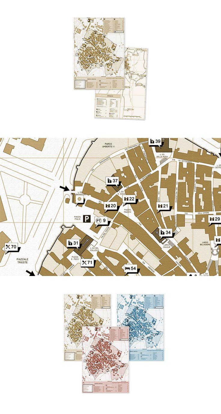 Mappa per il Comune di Tuscania, Brand Design ─ Giulio Patrizi Design Agency ©    #brand #identity #corporate #tuscania #map