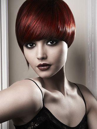 Dark Wine Red Hair Color